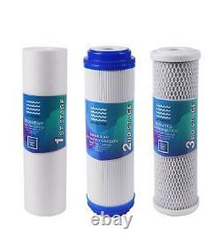 Système De Filtration D'eau À Osmose Inverse 5 Étapes Avec Robinet Et Compteur Tds