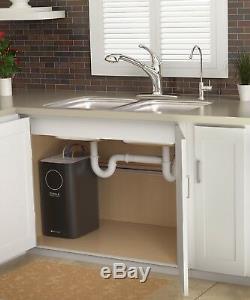 Système De Filtration D'eau À Osmose Inverse Brondell Circle Rc100 Avec Boîte Ouverte Pour Robinet