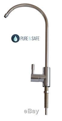 Système De Filtration D'eau À Osmose Inverse Ro Avec Sous-évier 5 Étages Avec Pompe Et Robinet En Acier Inoxydable