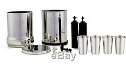 Système De Filtration D'eau Berkey Avec Tasses Pf2 Et 4 Tasses Ss Gratuites - Travel, Big, Royal, Crown