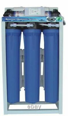 Système De Filtration D'eau D'osmose Inverse 800 Gpd Double Booster Pump Auto Flush Ro