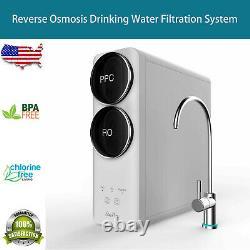 Système De Filtration D'eau D'osmose Inverse, Sans Réservoir, 400gpd, Robinet Intelligent, Nsf