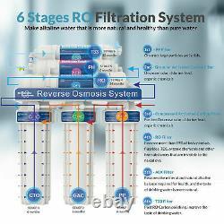 Système De Filtration D'eau D'osmose Inverse Sous Le Filtre À Eau D'évier 6-étape 100gpd