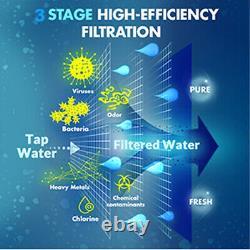 Système De Filtration D'eau D'osmose Inverse, Y7, Stérilisation Uv, Comptoir À 3 Étapes