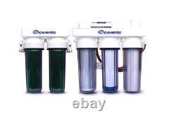 Système De Filtration D'eau De Récif D'aquarium À Osmose Inverse 6 Étapes Avec Kdf 85 75 Gpd