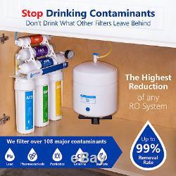 Système De Filtration D'eau Par Osmose Alcalin À 10 Étapes + Manomètre Roalk5dg