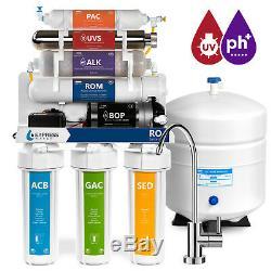 Système De Filtration D'eau Par Osmose Alcalin Ultraviolet Alcalin Avec Pompe 100 Gpd