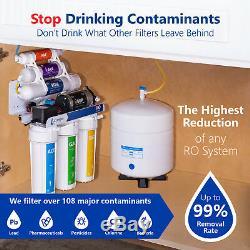 Système De Filtration D'eau Par Osmose Alcaline Ro Avec Surpresseur 100 Gpd