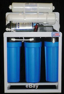 Système De Filtration D'eau Par Osmose Inverse 300 Gallons Par Jour Avec Pompe + Réservoir De 6 Gal