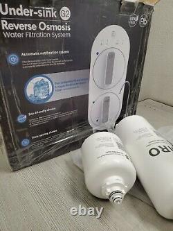 Système De Filtration D'eau Par Osmose Inverse De Goutte D'eau, Sans Réservoir 400 Gpd Wd-g2-w Nouveau