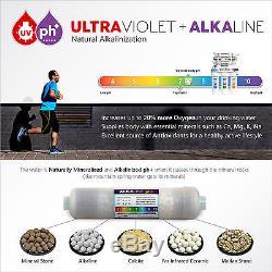 Système De Filtration D'eau Par Osmose Inverse En 11 Étapes Alcalin Ultraviolet Uv 50 Gpd