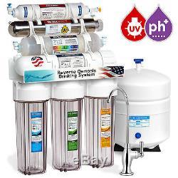 Système De Filtration D'eau Par Osmose Inverse En 11 Étapes, Alcalin Ultraviolet Uv Transparent
