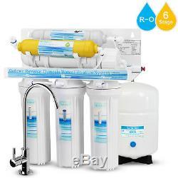 Système De Filtration D'eau Par Osmose Inverse En 6 Étapes Avec Filtre Minéral 75 Gpd