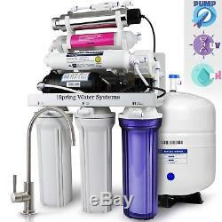 Système De Filtration D'eau Par Osmose Inverse Ispring # Rcc1up-ak À 7 Étapes 100 Gpd