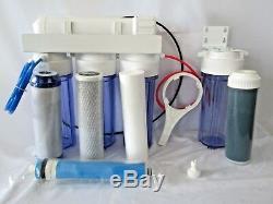 Système De Filtration D'eau Par Osmose Inverse Oceanic 5 Étapes Ro / DI Pour Aquarium Récifal 0ppm