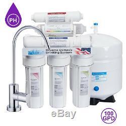 Système De Filtration D'eau Par Osmose Inverse Pour Osmose Inverse 10 Étapes 100 Gpd Ph Alcalin +