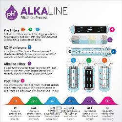 Système De Filtration D'eau Par Osmose Inverse Pour Osmose Inverse, 10 Étapes Ph + 100 Gpd