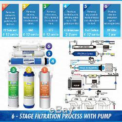 Système De Filtration D'eau Par Osmose Inverse Rcc1up Ispring 6 Étapes 100gpd Ro + Uv +