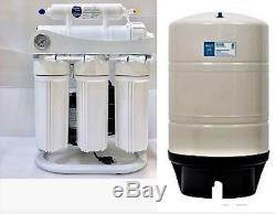 Système De Filtration D'eau Par Osmose Inverse Ro Avec Pompe De Surpression - Réservoir De 400 Gallons Par 20