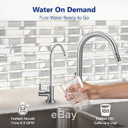 Système De Filtration D'eau Par Osmose Inverse Ro Plus 4 Filtres Gratuits 100 Gpd