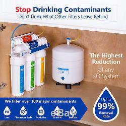 Système De Filtration D'eau Par Osmose Inverse Ro Plus 4 Filtres Libres 50 Gpd