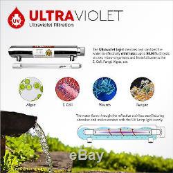 Système De Filtration D'eau Par Osmose Inverse Ultra Violet Uv À 6 Étapes 100gpd Avec Stérilisateur Ro