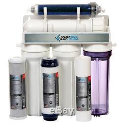 Système De Filtration D'eau Par Osmose Inverse (ro / Di) À 5 Étages Avec Aquarium 150gpd USA