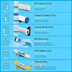 Système De Filtration D'eau Par Osmose Inversée Undersink À 6 Étages Avec Filtre Minéral 75 Gpd