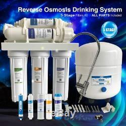 Système De Filtration D'eau Potable À Osmose Inverse En 5 Étapes Avec Robinet En Nickel Brossé