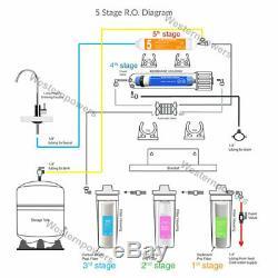 Système De Filtration D'eau Potable Avec Système D'osmose Inverse À 5 Étapes + 7 Filtres Supplémentaires
