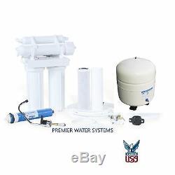 Système De Filtration D'eau Potable Par Osmose Inverse À La Maison 50 Gpd En 4 Étapes Avec Réservoir USA