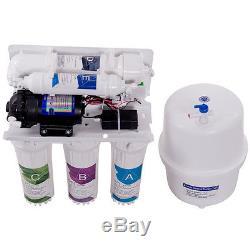 Système De Filtration D'eau Potable Par Osmose Inversée 50 Gpd De Costway Ro 5 Undersink Étape