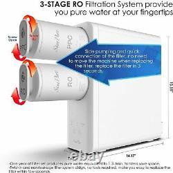 Système De Filtration D'eau Sans Réservoir Ro À Osmose Inverse, Purificateur À Débit Rapide 400gpd