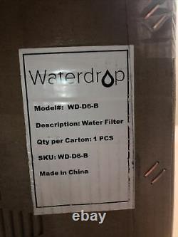 Système De Filtration De L'eau De La Goutte D'eau D6 Osmose Inverse