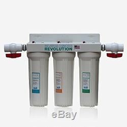 Système De Filtration De L'eau En 3 Étapes Whole House, 3/4 Ports Avec 2 Vannes Et 3 Supplémentaires
