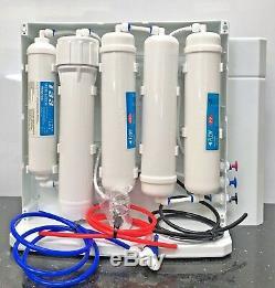 Système De Filtration De L'eau En 5 Étapes À Osmose Inverse De Comptoir 200 Gpd (avec Couvercle)
