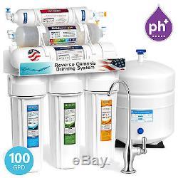 Système De Filtration De L'eau Minérale Alcaline Par Osmose Inversée En 10 Étapes 100 Gpd