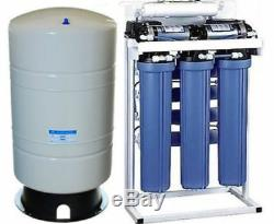 Système De Filtration De L'eau Par Osmose Inverse De Qualité Commerciale 600 Réservoir De Gpd + 40 Gallons