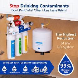 Système De Filtration De L'eau Par Ultraviolets Ro Uv Avec Jauge 100 Gpd