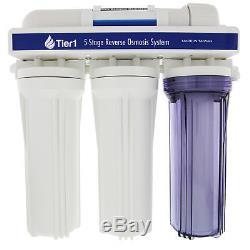 Système De Filtration De L'eau Potable À La Maison Par Osmose Inverse À 5 Niveaux Tier1 Ro-5