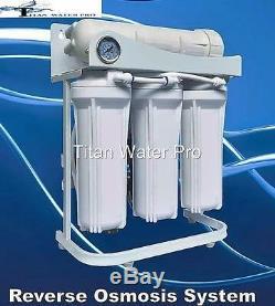 Système De Filtration De L'osmose Inversé Ro 5 Pompe De Surpression Du Système 300 Gpd Et Jauge En Psi
