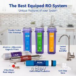 Système De Filtration Par Osmose Alcaline Ultraviolette Ro Clear 100 Gdp