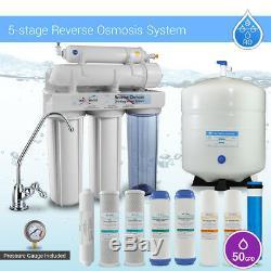 Système De Filtration Par Osmose Inverse À Domicile De 5 Étages Plus Filtre Supplémentaire 4 Filtre À Eau