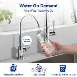 Système De Filtration Par Osmose Inverse De L'eau Claire, Jauge, 4 Bonus Filtre 100 Gpd