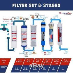 Système De Filtration Par Osmose Inverse Pour Eau Potable À 6 Étapes Liquagen Avec Ph Alcalin