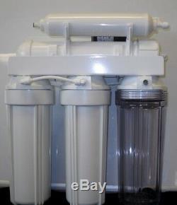 Système De Filtre À Eau Alcaline Par Osmose Inverse À 6 Étapes + Pompe De Perméat 100gpd USA