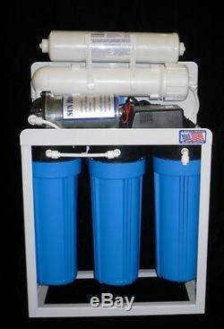 Système De Filtre À Eau Par Osmose Commercial De 400 Gpd, Réservoir De 14 Gallons + Pompe