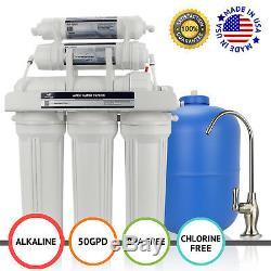 Système De Filtre À Eau Par Osmose Inverse Apex Mr-6050 6 Étapes 50 Gpd Alcaline Ph + Ro