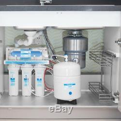 Système De Filtre À Eau Par Osmose Inverse En 6 Étapes Avec Désionisation DI Filter-75gpd