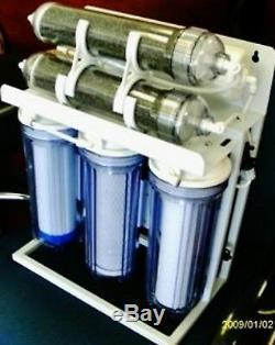 Système De Filtre À Eau Par Osmose Inversée Pour Aquarium De Récif 6 Pompe / Surpresseur 300 Gpd